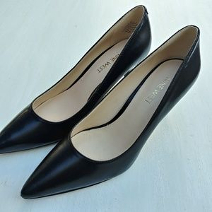 Nine West Margot Black Leather Pointed Toe Pumps
